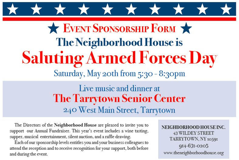 Saluting Armed Forces Day Sponsorship Form - Neighborhood House