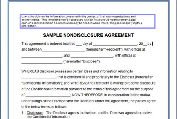Confidentiality Agreement Form | Confidentiality Agreement Sample