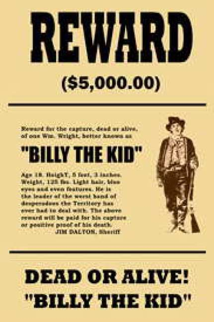 7 Wanted Poster Templates - Excel PDF Formats