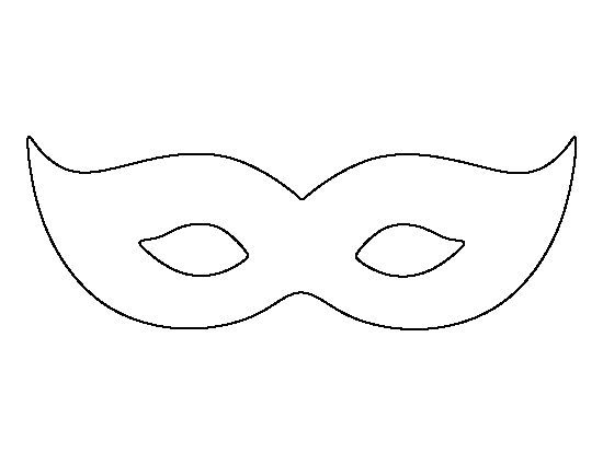 Mardis Gras mask pattern. Use the printable outline for crafts ...