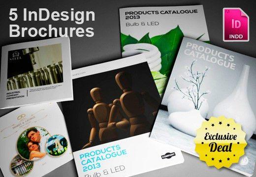 Get 5 InDesign Brochure Templates + Bonus for Only $24   InkyDeals
