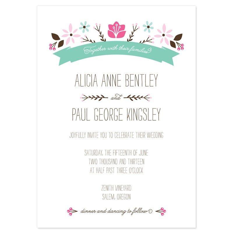 Casual Wedding Invitation Wording Samples - vertabox.Com