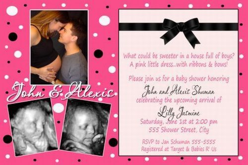 Baby Shower Invitations With Picture - iidaemilia.Com