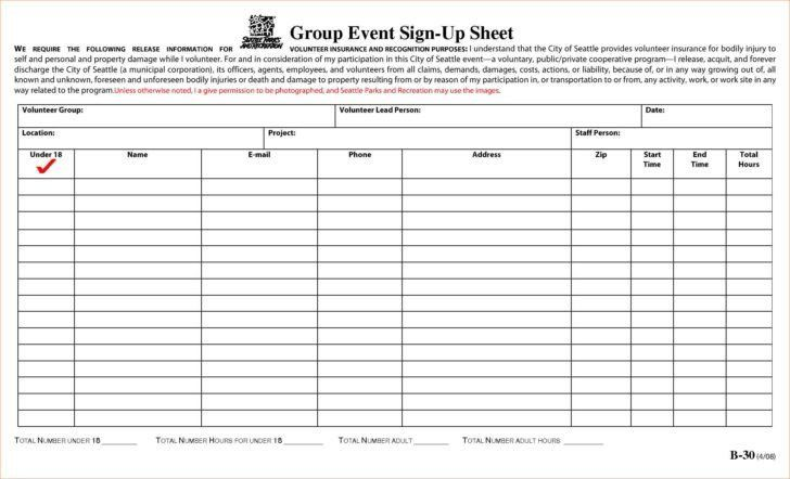 Event Sign Up Sheet Template Free | HAISUME