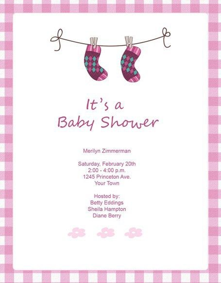 Free Baby Shower Invitation Templates For Word | Best Template ...