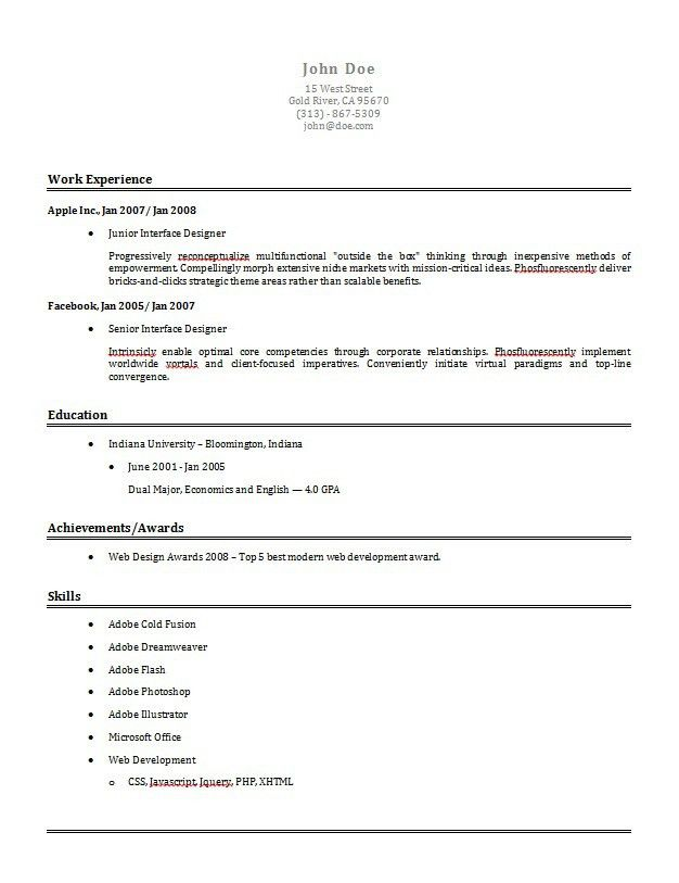 resume template builder resume contemporary resume template