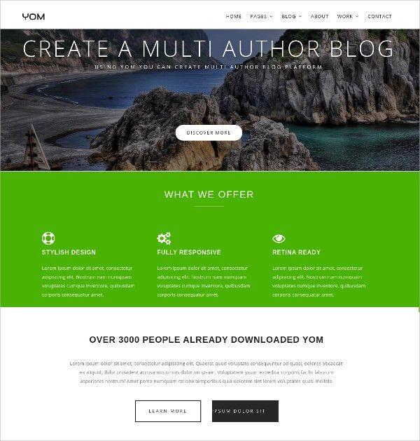 12+ Free Html Themes & Templates | Free & Premium Templates