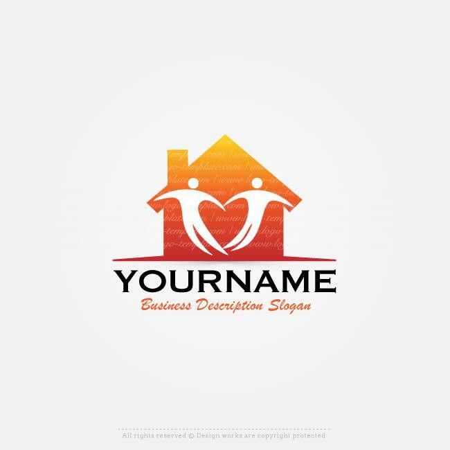Online Logos Store - Family house logo template