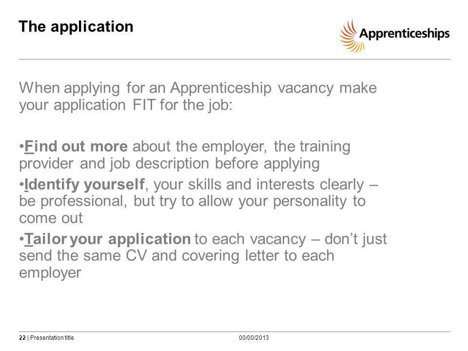 Using Apprenticeship vacancies - ppt video online download