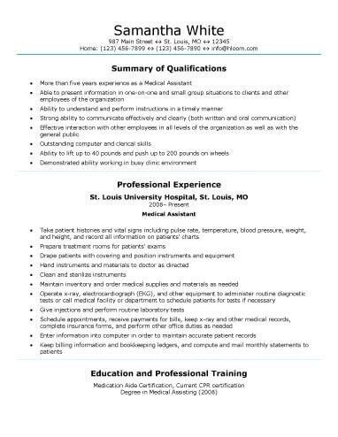 Medical Assistant Resume Templates. Medical Assistant Resume Best ...