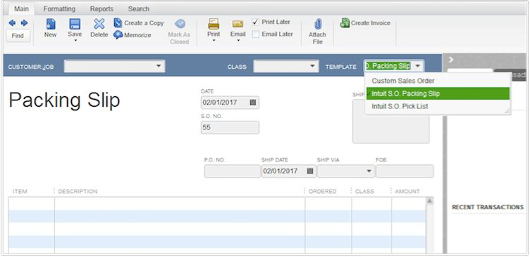 How to Create and Print Packing a Slip in QuickBooks