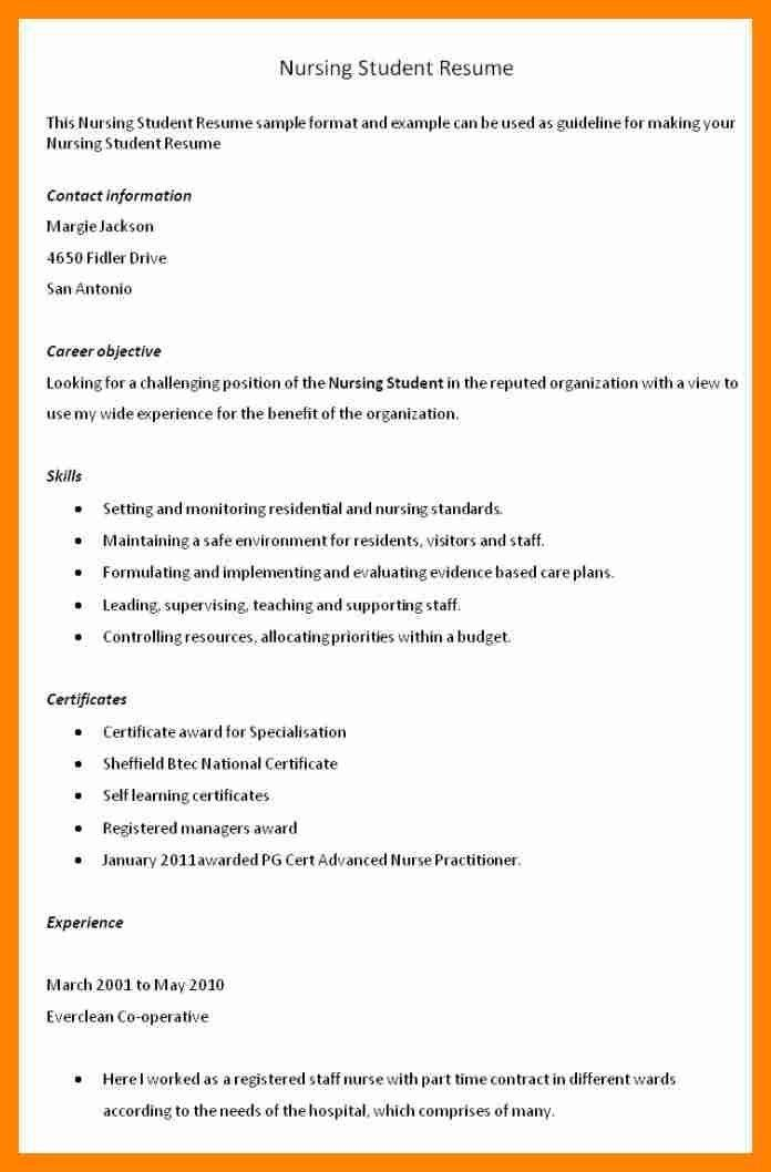 Objectives For Nursing Resume - cv01.billybullock.us