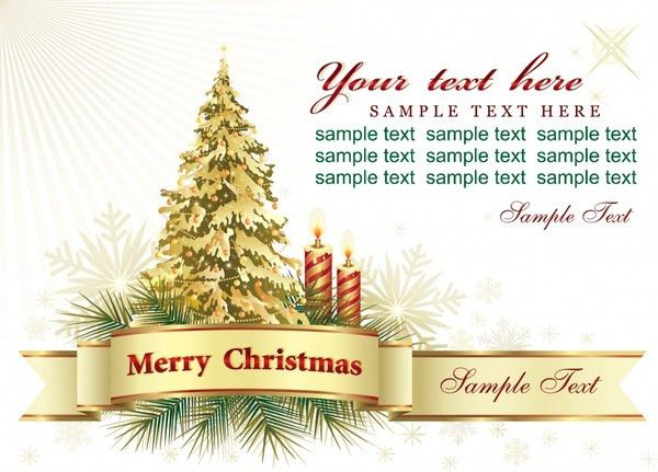 Christmas card background free vector download (52,170 Free vector ...