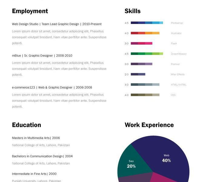 Resume Templates For Pages. 3 Page Cv Template & Business Card The ...