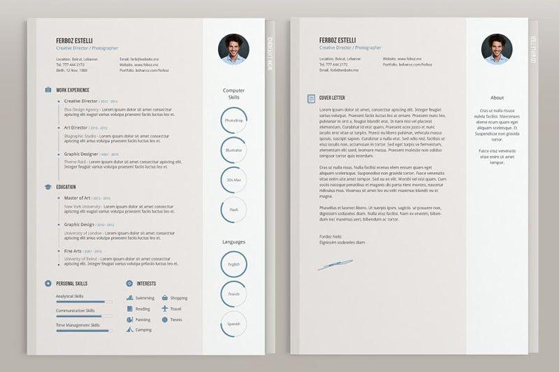 cv templates adobe illustrator - Free resume examples cv templates