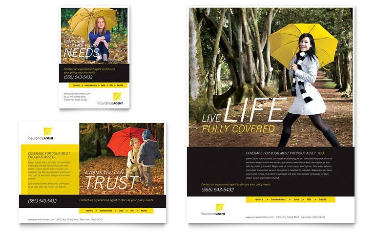 Insurance Agent Flyer & Ad Template - Word & Publisher