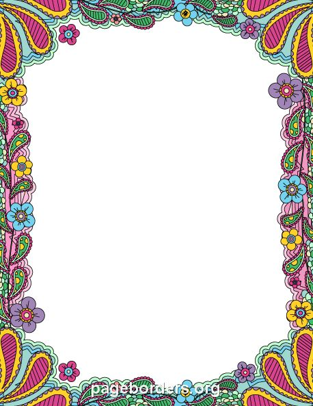 Colorful Doodle Border: Clip Art, Page Border, and Vector Graphics