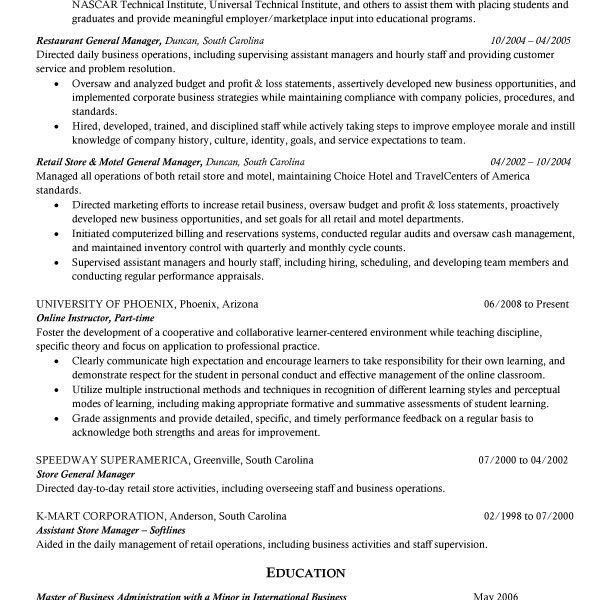 sample resume recruiter