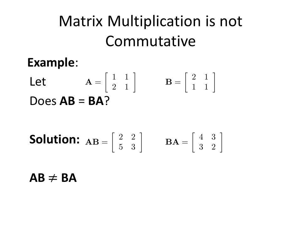 Matrices Section 2.6. Section Summary Definition of a Matrix ...
