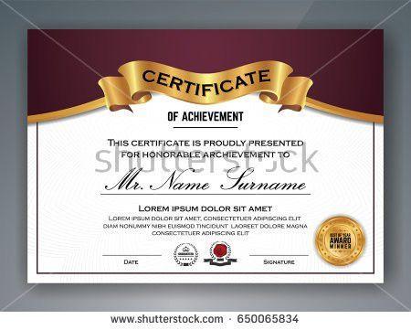 Certificate Template Stock Vector 125761511 - Shutterstock