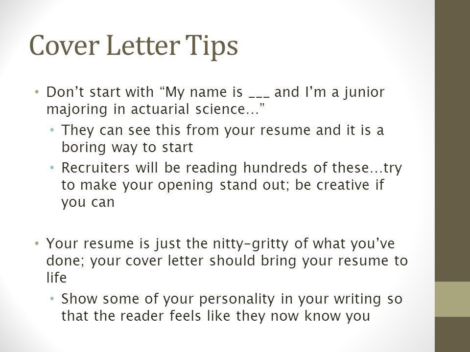 make your cover letter stand out