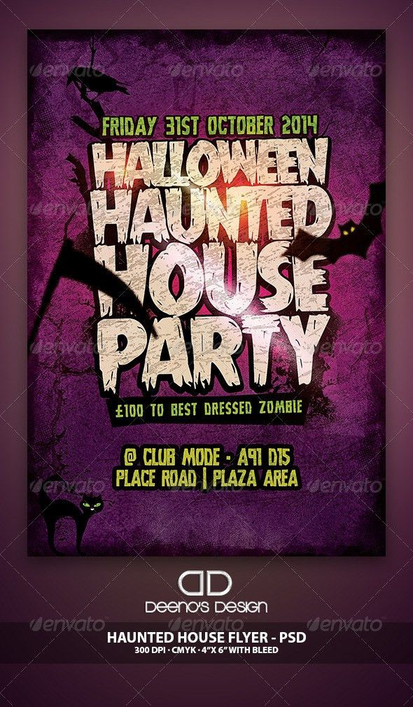 Haunted House Flyer Template PSD by DeenosDesigns | GraphicRiver