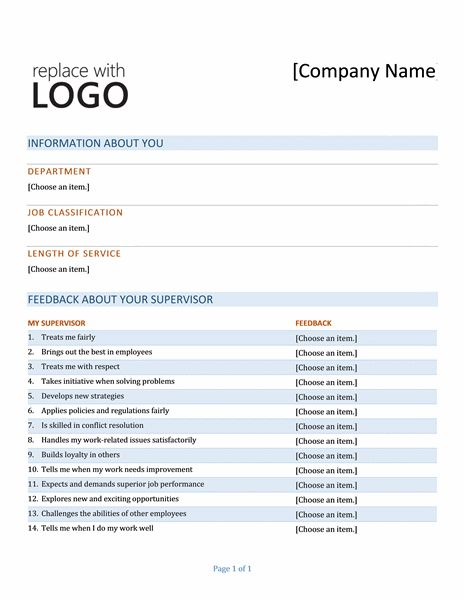 Manager feedback form - Office Templates
