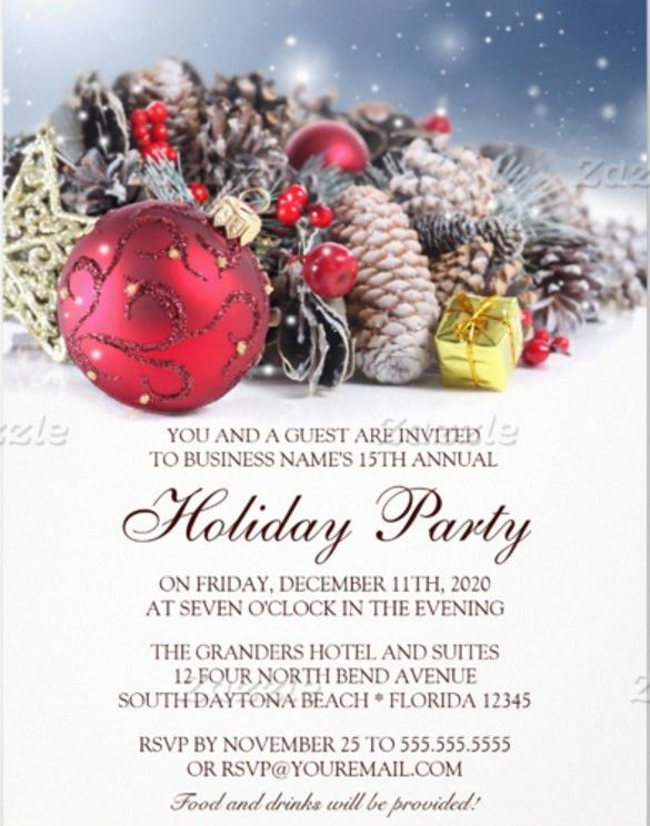 Free Holiday Party Invitation Templates – gangcraft.net