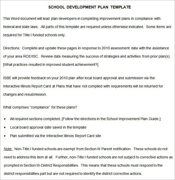 School Development Plan - Free Word Documents Download | Free ...