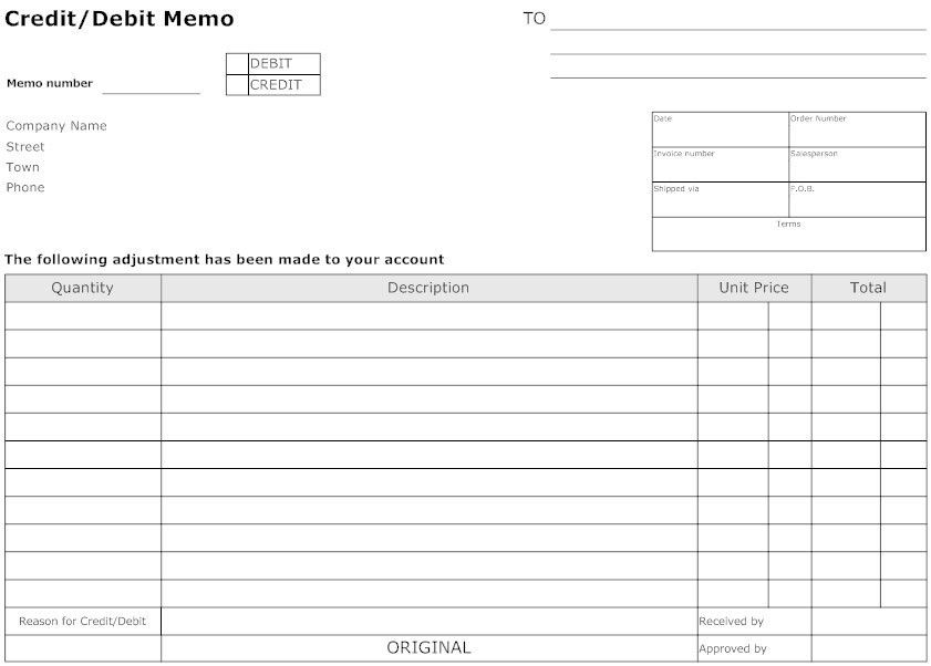 Sample Credit Memo. Credit Memo Form Free Credit Memo Form Free ...