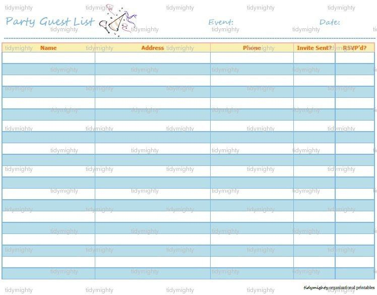 5+ Wedding Invitation List Templates - Word Excel PDF Templates