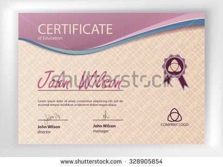 Certificate Diploma Completion Design Template Vector Stock Vector ...