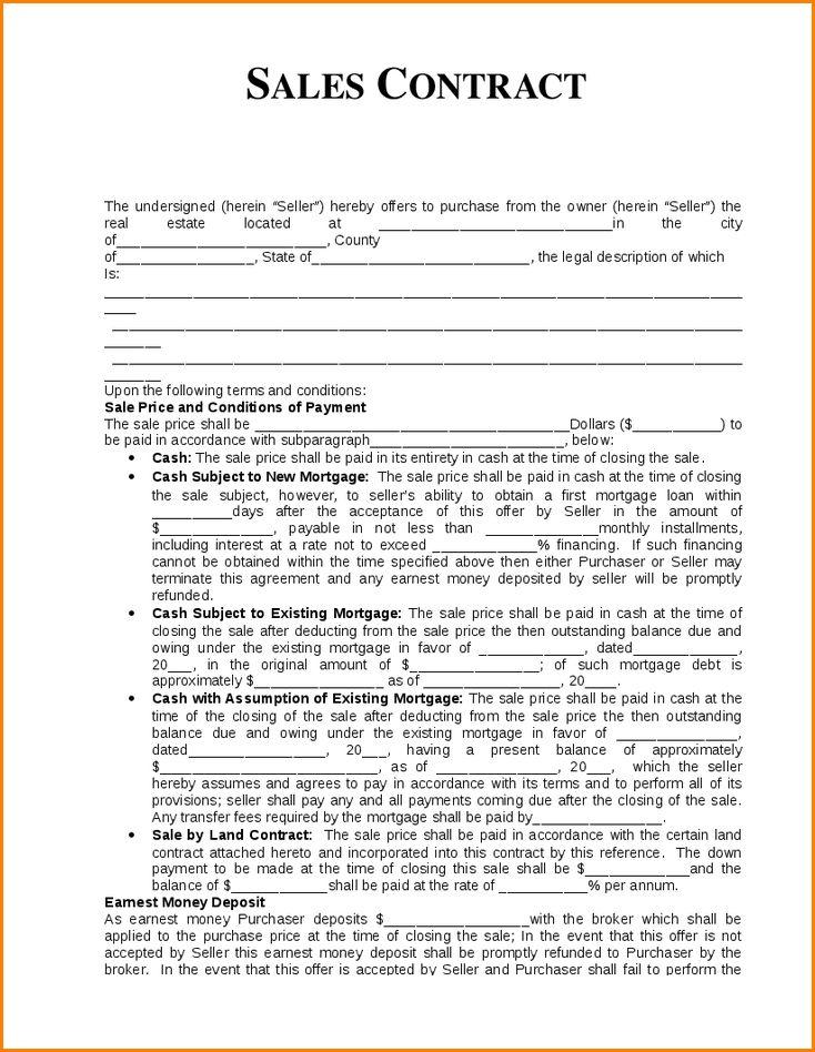 7+ sales contract template | writable calendar