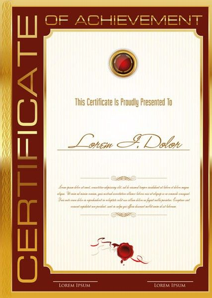 Certificate template adobe illustrator free vector download ...