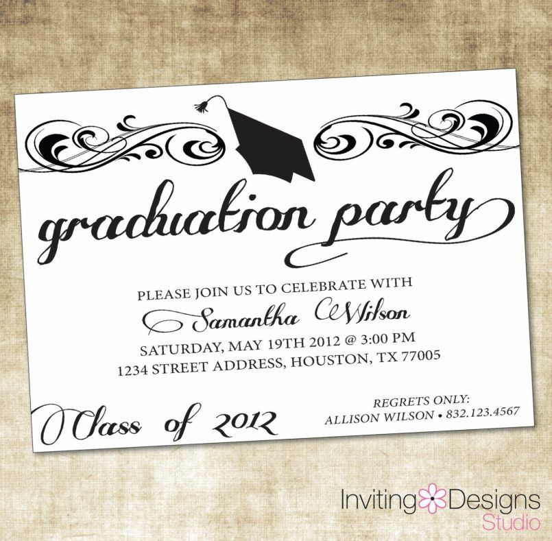 Designs High School Graduation Party Invitations With Various ...