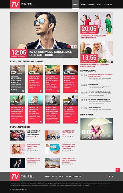 Website Templates Tv Channel Television Schedule Custom Website ...