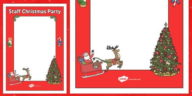 Staff Christmas Party Poster Template - staff, christmas party