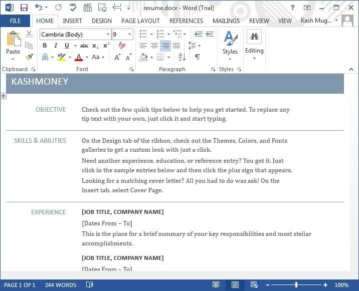 Microsoft Word 2013 Tutorial - MS Office 2013 Training | IT ...