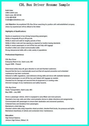 Truck Driver Resume Examples. Cdl Resume Cdl Resume Resume ...