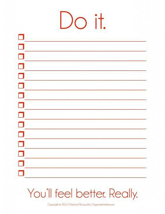 To Do List Template | free to do list
