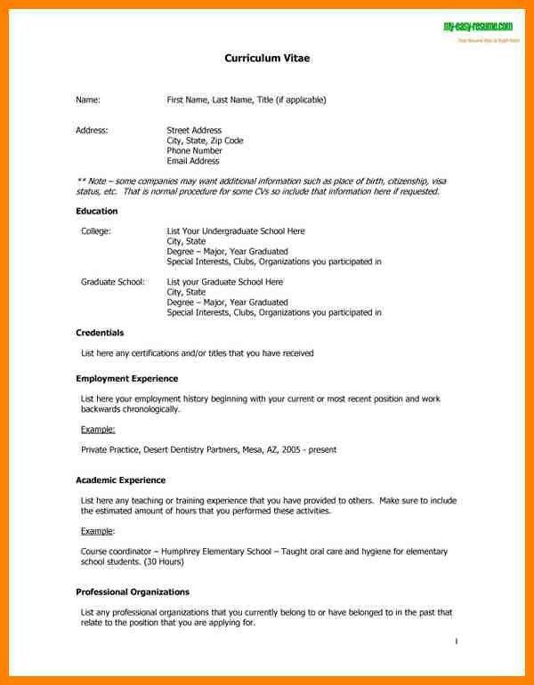 what is cv resume format free cv template curriculum vitae