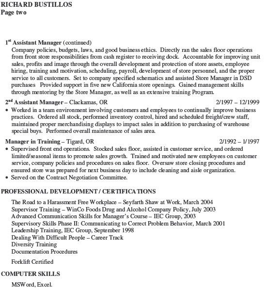 resume cover letter for district manager 3. resume cover letter ...