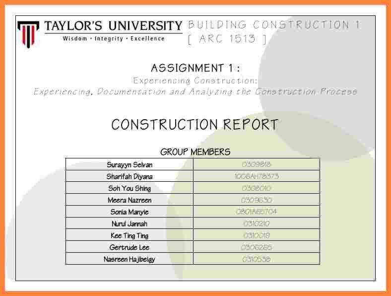 5+ construction project report format | Bussines Proposal 2017