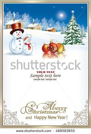 Christmas Card Christmas Tree Stock Vector 159056732 - Shutterstock