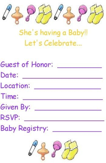 Printable Baby Shower Invitation Templates | THERUNTIME.COM