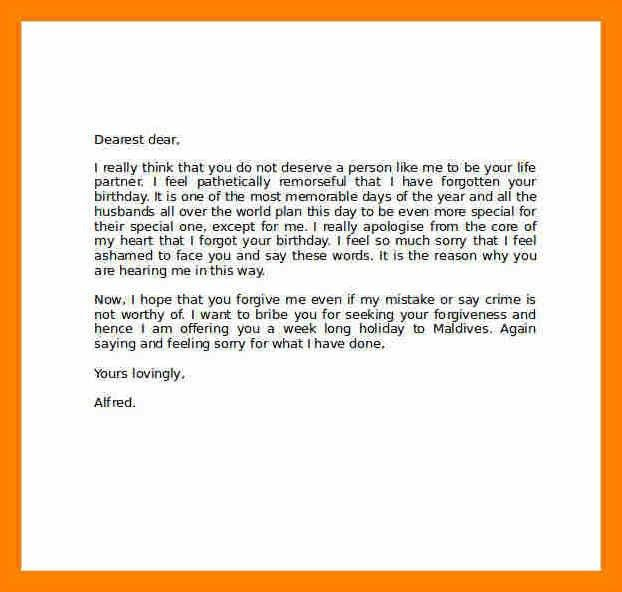 7+ apology letter to girlfriend after fight | report example
