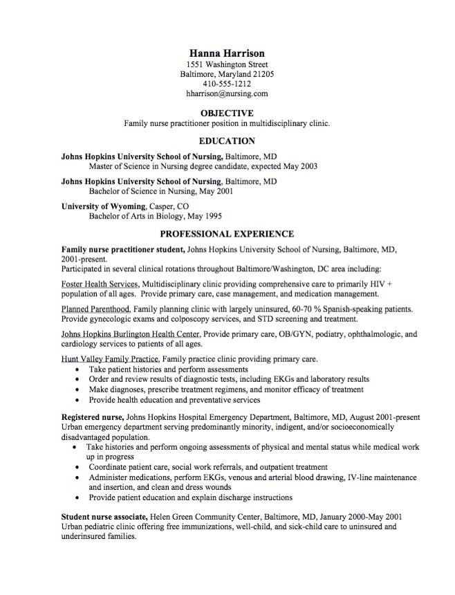 Graduate Nurse Practitioner CV Samples - http://resumesdesign.com ...