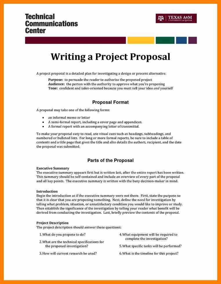 Project Proposal Letter. 3+ Letter Of Proposal Example | Academic ...