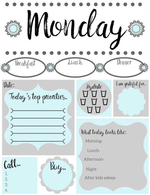 Free printable daily to-do list | Free printable, Free and Planners