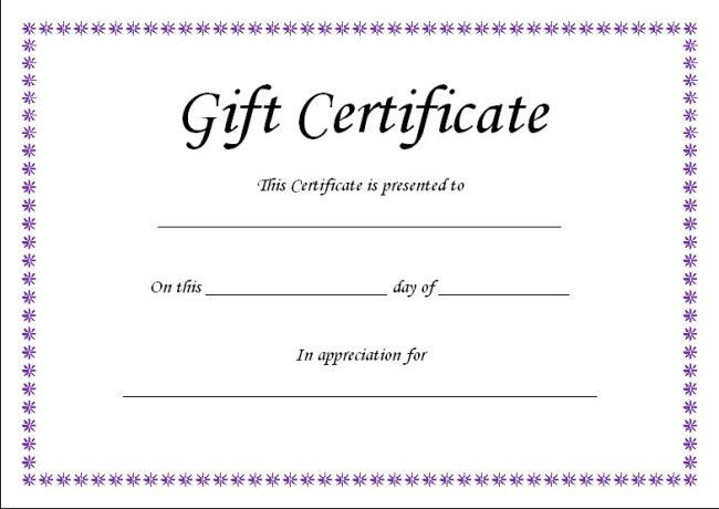 Very Simple Design of Gift Voucher Certificate Template with ...
